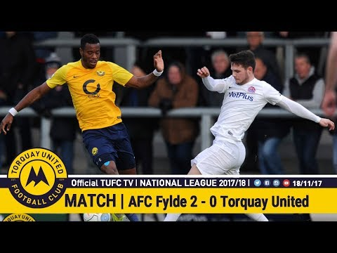 Official TUFC TV | AFC Fylde Vs Torquay United 18/11/17