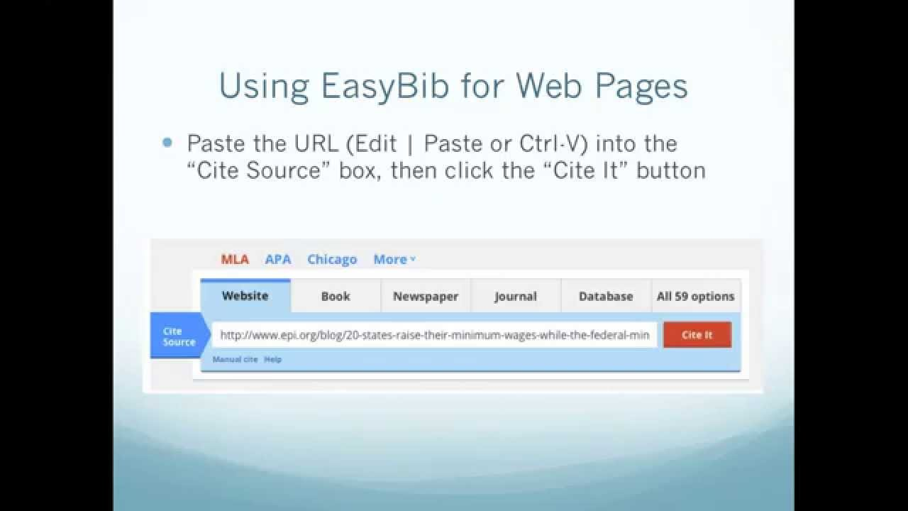 easybib sign in Easybib is an automatic bibliography composer when you have sources you need to cite properly for your research paper, easybib will help you format your sources.