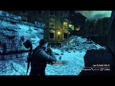 Sniper Elite: Nazi Zombie Army Lets Play #5 Cathedral from Hell  