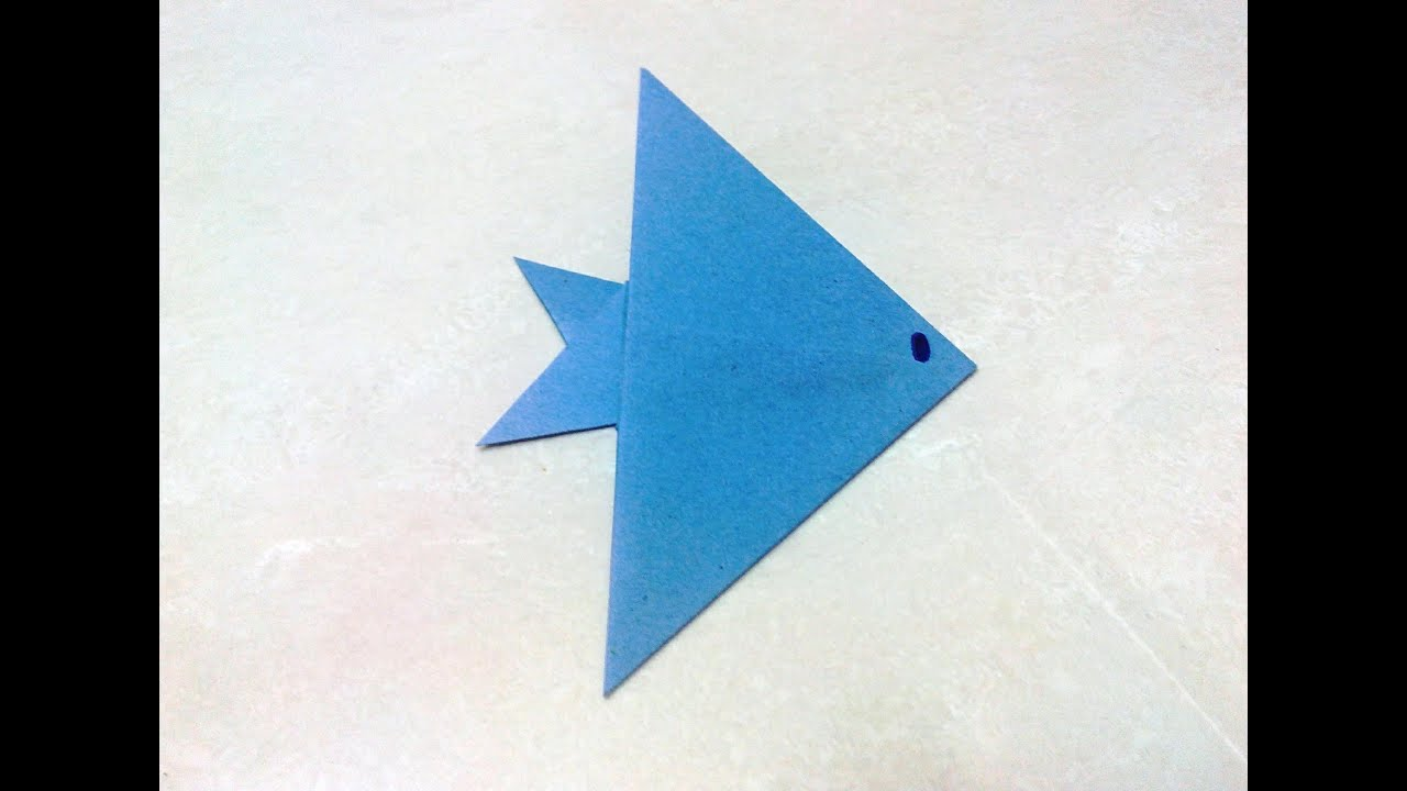 Papercraft How to make an origami fish.