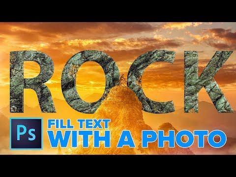 How To Make ROCK TEXT & Fill Text With Image In PHOTOSHOP