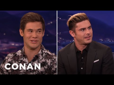 Adam DeVine: I'm A Treasure Troll Next To Zac Efron   CONAN on TBS