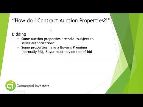 Wholesaling Auction Properties - Find Out How!