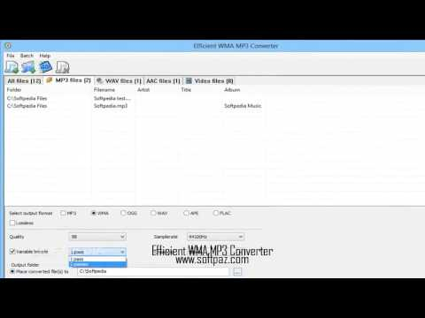 Efficient WMA MP3 Converter free download!