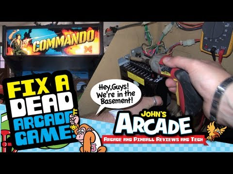 How to fix a dead arcade game #1 - Troubleshooting a Craigslist purchase - Data East Commando