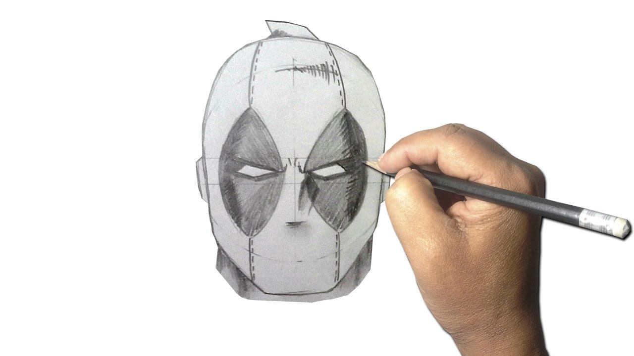 Dibujos De Deadpool: Como Dibujar La Cara De DEADPOOL L Paso A Paso