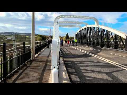 Sutton Weaver Swing Bridge Opening 10th October 2014