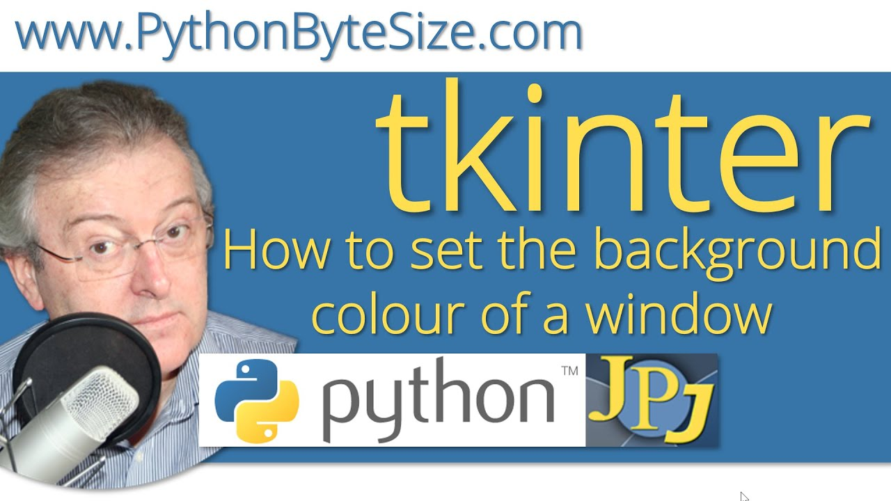 How To Set The Background Colour Of A Python Tkinter Window