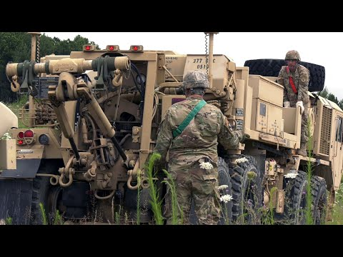U.S. Army Performing Vehicle Recovery Operations