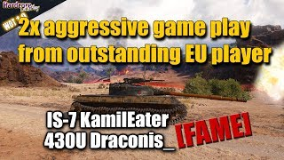 "WOT: 2x aggressive play from ""top EU players"", WORLD OF TANKS"