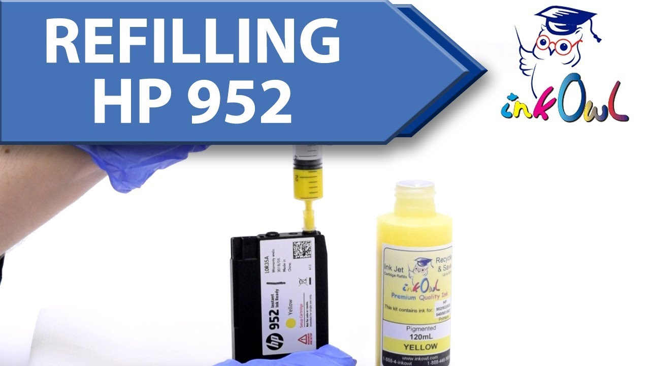 How to refill HP 952, 953, 954, 955, 956XL Ink Cartridges