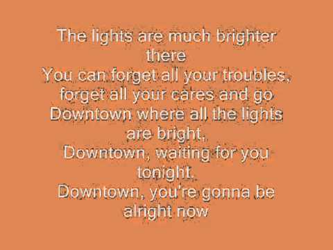 Downtown  Petula Clark with lyrics