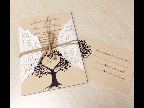 Unique diy wedding invitation ideas - YouTube