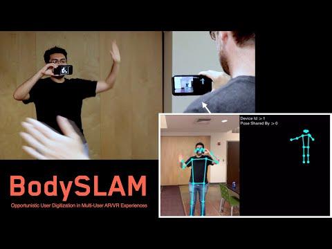 BodySLAM: Opportunistic User Digitization in Multi-User AR/VR Experiences
