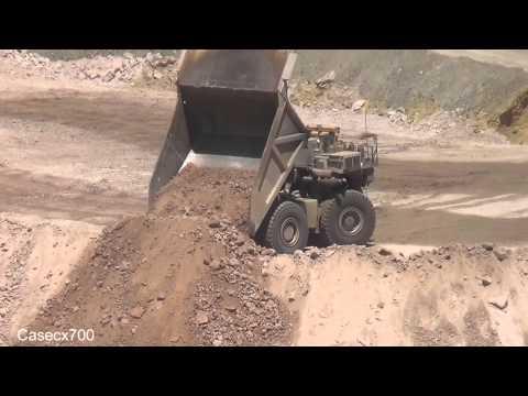 CAT D10 and Liebherr Trucks working a Dump ASARCO Ray Mine