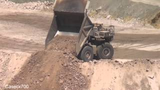 CAT D10 and Liebherr Trucks working a Dump ASARCO Ray Mine