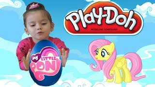 Май литтл пони КИНДЕР яйца с сюрпризом плей до / GIANT MY LITTLE PONY Surprise Eggs Play Doh