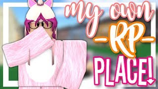 MY OWN RP PLACE!? || ROBLOX SHOWCASE