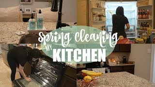 CLEAN WITH ME 2018 // SPRING CLEANING MY KITCHEN // DEEP CLEANING