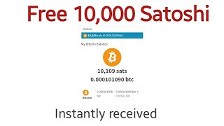 Get 10000 Satoshi Instantly Received And Daily Up to 100 dollar earn.