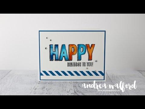 Stampin' Up! Video Tutorial | Tie-Dye Watercoloring Technique