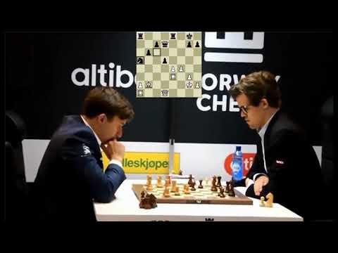 BEAUTIFUL TACTICAL ENDGAME!!! Sergey Karjakin Vs Magnus Carlsen - Blitz Chess 2017 Norway