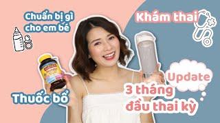 UPDATE 3 Tháng Đầu Mang Bầu ♡ Xét Nghiệm, Thuốc Bổ, Khám Thai, Nghén??? ♡