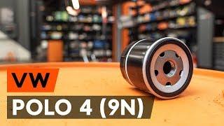 Cómo cambiar Filtro aceite VW POLO (9N_) - vídeo gratis en línea