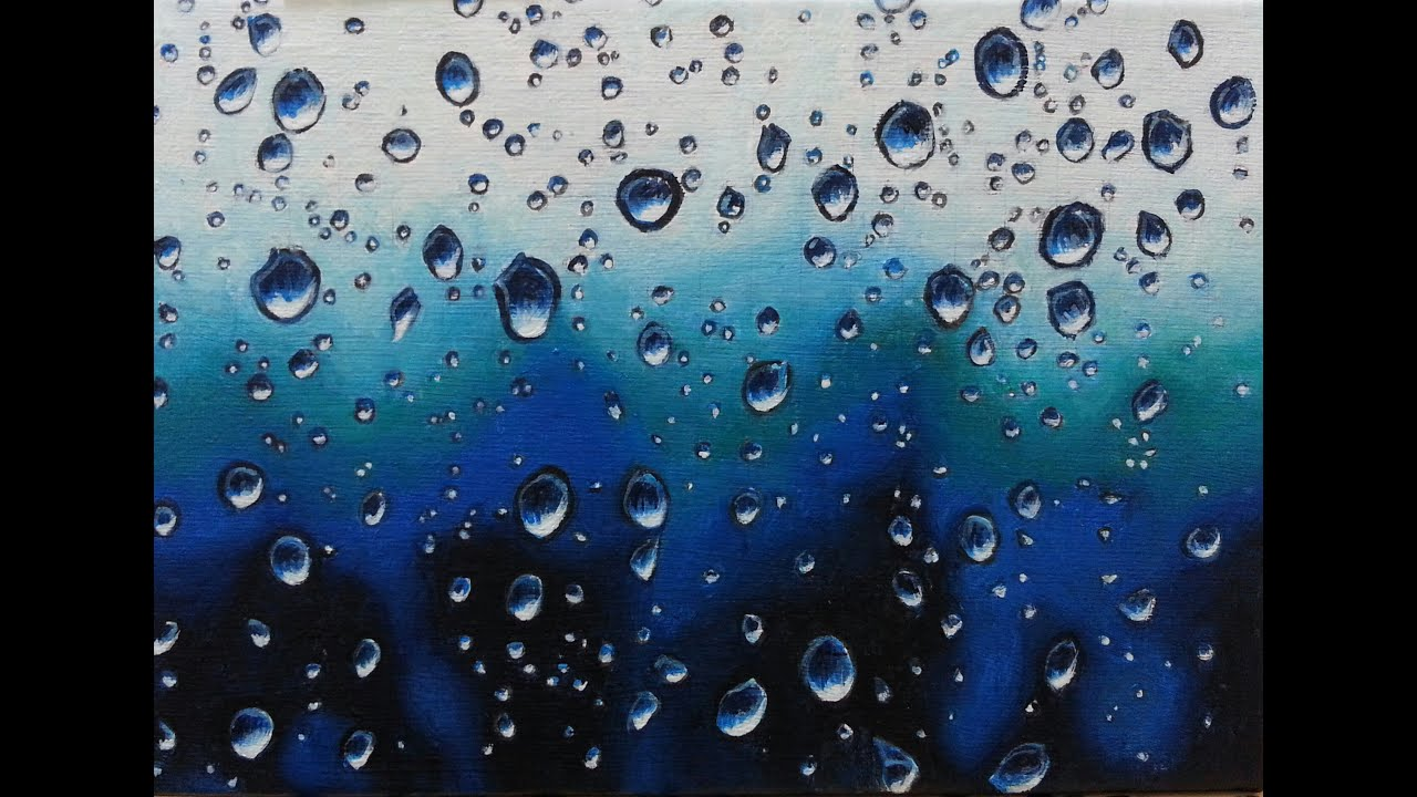 Waterdrop acrylic painting - YouTube