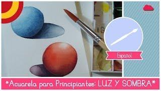 Acuarela para principiantes: Como pintar luz y sombra (ejercicio de la esfera)