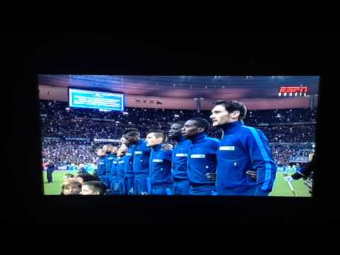 La Marseillaise  France x Ukraine 2014 Fifa World Cup Qualifying Playoff  19.nov.2013