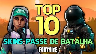 FORTNITE-TOP 10 MOST BEAUTIFUL SKINS OF THE BATTLE PASSES!