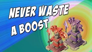 Boom Beach: NEVER Waste A BOOST!