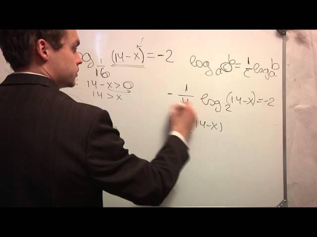 ЕГЭ математика. В5 .Логарифм. Видео урок. Ч1