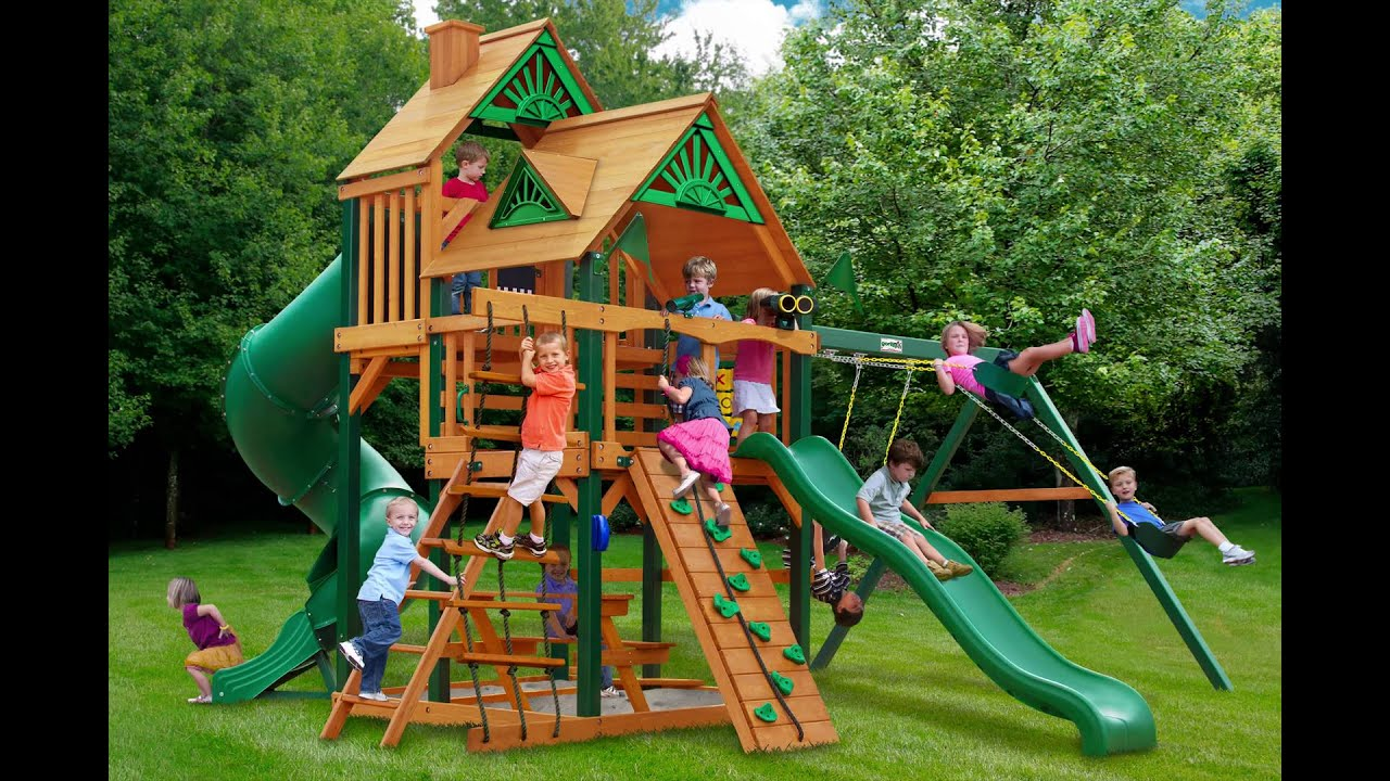 Great Skye I Swing Set w Timber Shield Wood Roof