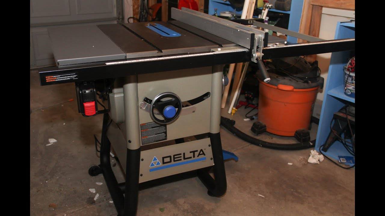 36 725 Delta Table Saw Assembly Youtube