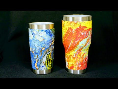 DIY Custom Painted Tumbler with HYDRO DIPPING - YouTube
