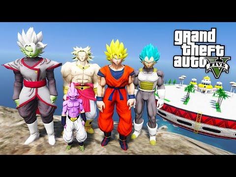 GTA 5 Mods - DRAGON BALL Z MOD w/ SUPER SAIYAN GOKU, VEGETA & KID BUU! (GTA 5 Mods Gameplay)