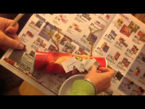 Making a Pringles can sarcophagus