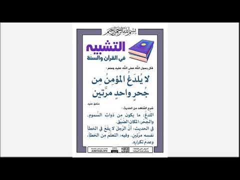 التشبيه في القرآن والسنة Youtube