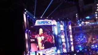 The Rock of WWE in Little Rock Arkansas