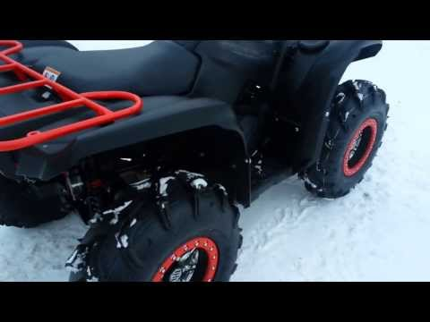 Grizzly 700 stock exhaust vs 2r tip vs barker duals doovi for 2014 yamaha grizzly 700 exhaust
