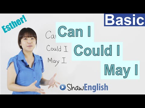 Learn English: Can I / Could I / May I