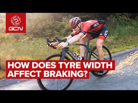 Does Tyre Width Affect Braking Distance On A Road Bike? | GCN Does Science(ish)