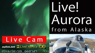 [Live] Aurora (northern lights) live from Fairbanks/Alaska -- オーロラ・流星生中継 アラスカ