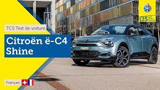 TCS Test de voiture - Citroën ë-C4 - Essai 2021