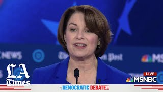 Sen. Amy Klobuchar says we can't play a game called 'Name your favorite woman president'