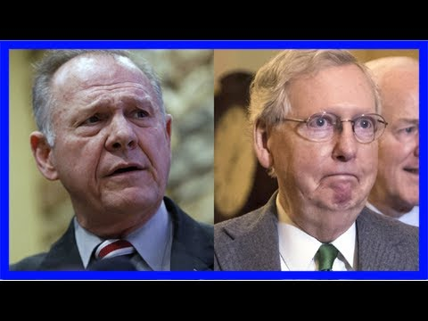 Roy moore calls for mitch mcconnell to resign: he didn't learn his lesson when alabama rejected his