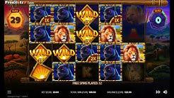 Serengeti Kings Slot Machine BONUS GAME