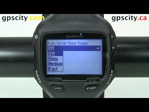 The Auto Scroll Menu in Open Water Swim Mode on the Garmin Forerunner 910XT with GPS City